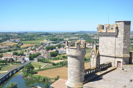 View from Beziers Cathedral terrace