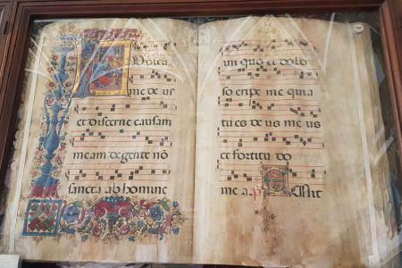 An illuminated manuscript in the Piccolomini Library