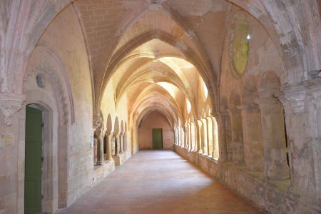 Artistic shot of cloisters