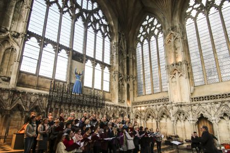 Rehearsing in the Lady Chapel