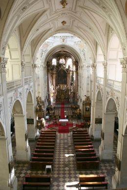 The interior of San Salvator Church, Prague
