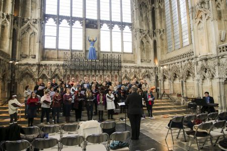 More rehearsing in the Lady Chapel